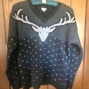 JCrew deer winter sweater size XL